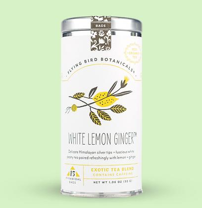 White Lemon Ginger - 15 Tea Bag Tin