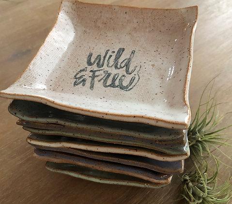 'Wild & Free' Ceramic Trinket Tray
