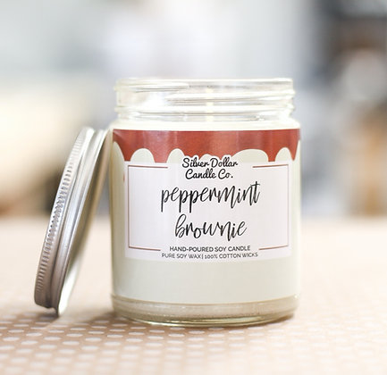 Peppermint Brownie Soy Candle - 8 oz