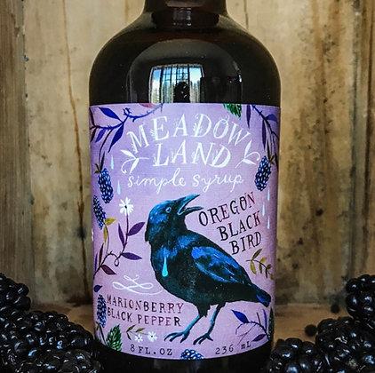 Meadowland Oregon Black Bird Simple Syrup - Marionberry Black Pepper