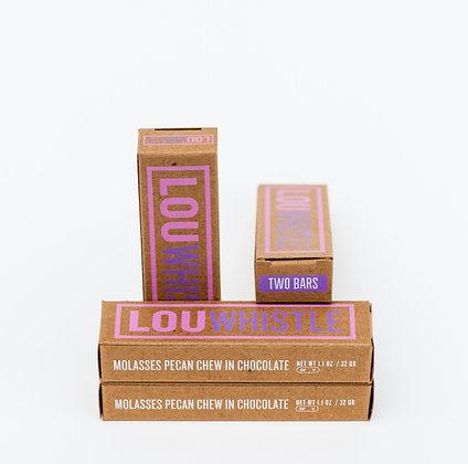 Lou Whistle - Molasses Pecan Chew in Chocolate