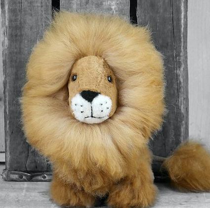 "9"" Alpaca Stuffed Lion"