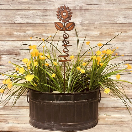 Hope Inspirational Garden Plant Stake