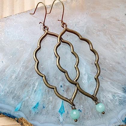 'Mint Julep' Brass Earrings