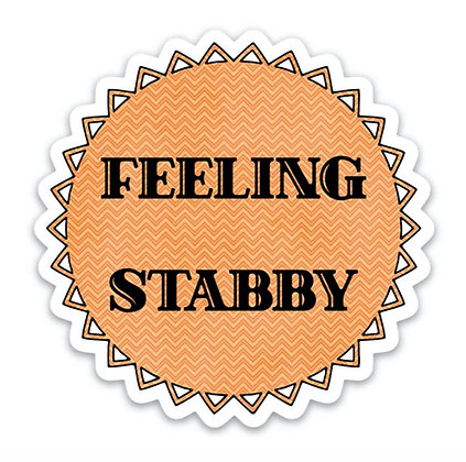 Feeling Shabby Vinyl Sticker