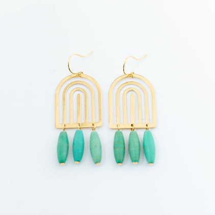 Turquoise Arch Earrings