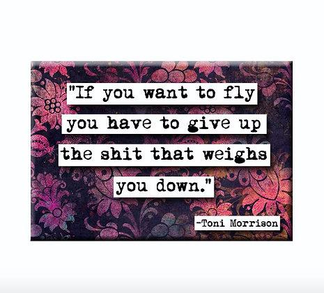 Toni Morrison Fly Magnet