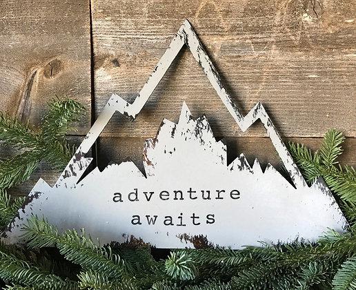 Adventure Awaits Mountain Sign