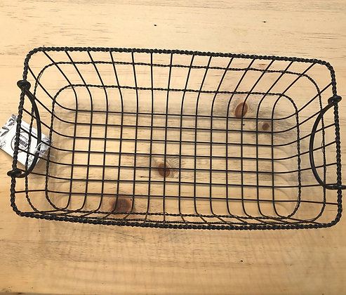 Black Metal Basket With Handles