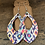 Thumbnail: Abstract Leopard Rainbow Cork and Leather Teardrop Earrings