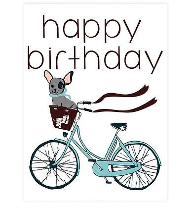 Happy Birthday Frenchie Greeting Card