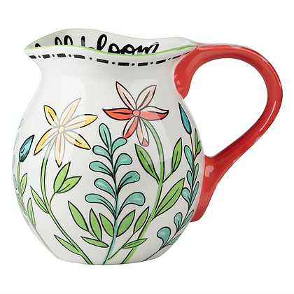 Live Life In Full Bloom Pitcher