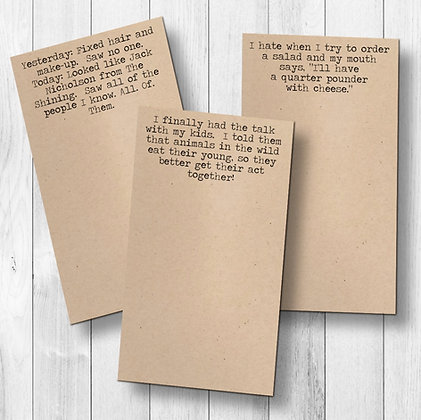 Funny Sarcastic Notepad
