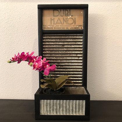 Vintage Washboard Planter