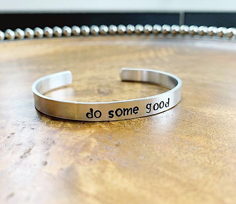Do Some Good Stamped Cuff