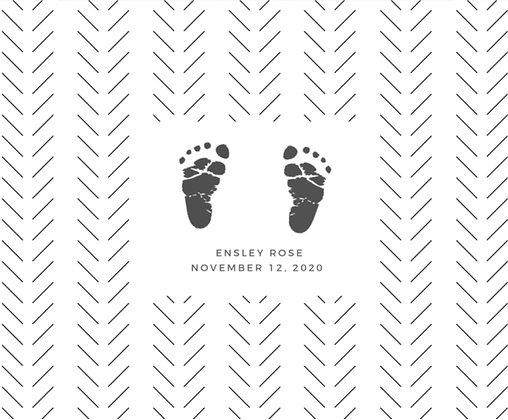 Stamp My Feet Custom Baby Footprint Kit - Black Herringbone