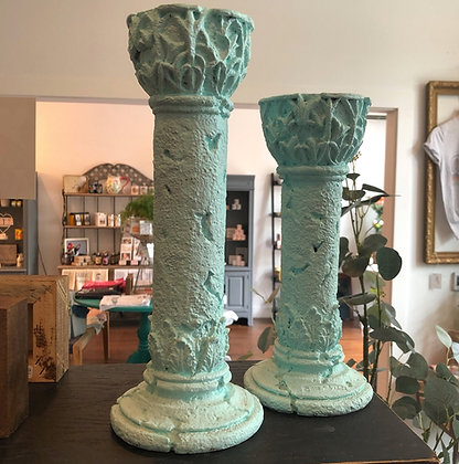 Pair of Pale Blue Candlesticks