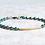 "Thumbnail: 7"" Turquoise Blue Czech Glass Beads And Bronze Bar Bracelet"