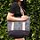 Thumbnail: Sustainable Canvas Tote Bag - Black Monstera