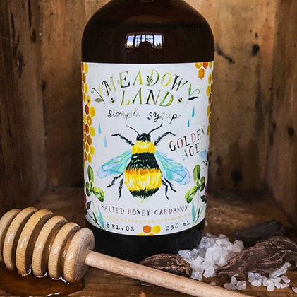 Meadowland Golden Age Simple Syrup - Salted Honey Cardamom