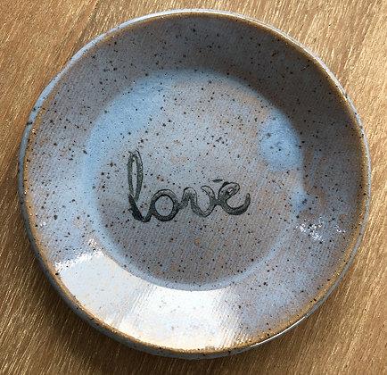 'Love' Ceramic Mini Plate