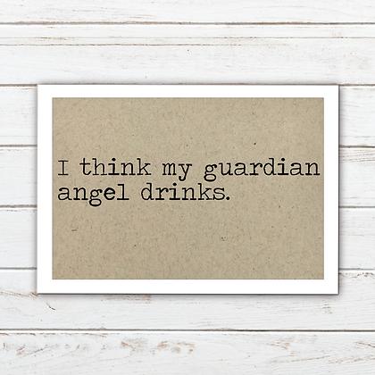 My Guardian Angel Drinks Magnet