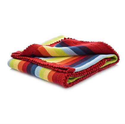 Rainbow Stripey Blanket