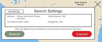 Farm Help Finder Search Settings