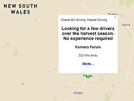 Farm Help Finder Search Result Marker Popup