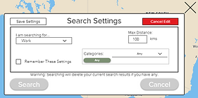Editting search settings for the farm help finder
