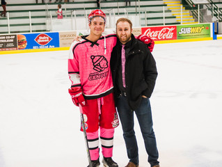 Pink in the Rink fundraiser $ to Dawson Creek Hospital