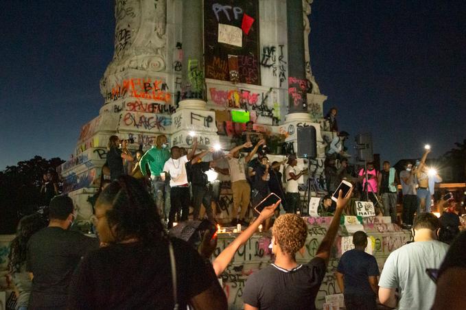 Marcus David Peters Circle - Racial Justice Protests - Summer 2020