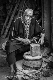 Coppersmith in the Medina of Fes, Morocco