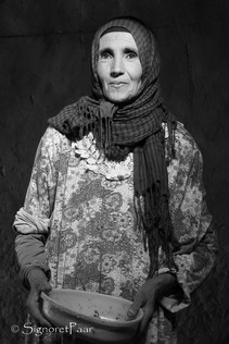 Berber woman in the morning light