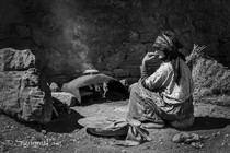 Baking bread in the High Atlas Mountains of Morocco