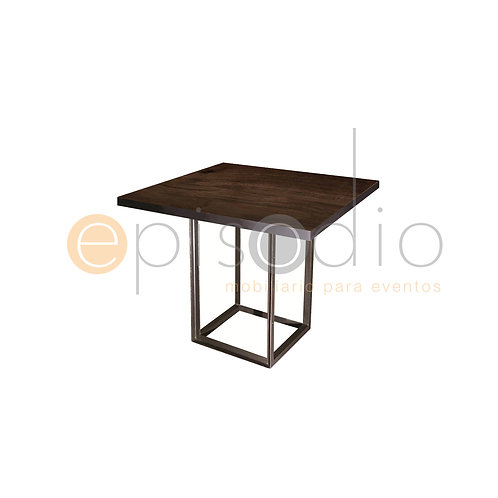 Mesa de 0.90 x 0.90 de Walnut Color Grafito