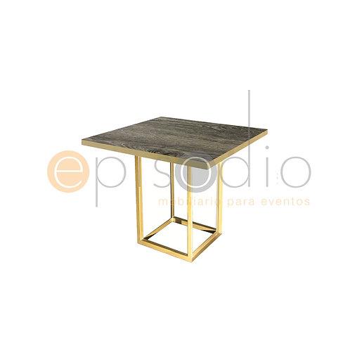 Mesa de 0.90 x 0.90 de Portobello Color Dorado