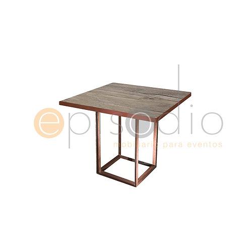 Mesa de 0.90 x 0.90 de Demin Oak Color Cobre
