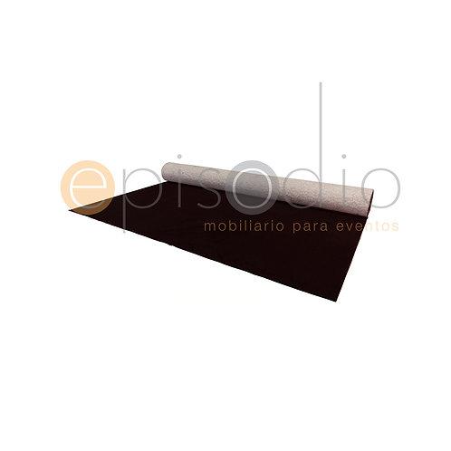 Tapete De Pelo Rasurado Color Negro