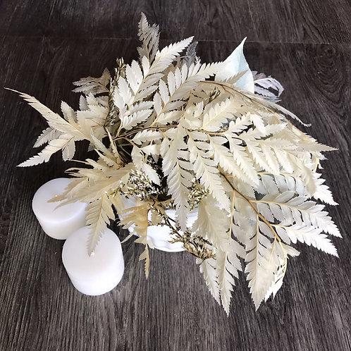Centro De Mesa De Flores Blancas