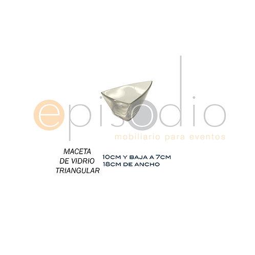 Maceta de Vidrio Triangular