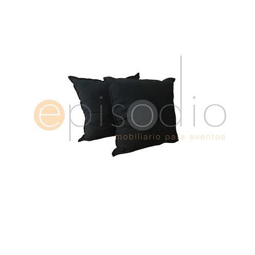 Cojín Con Orilla Color Negro
