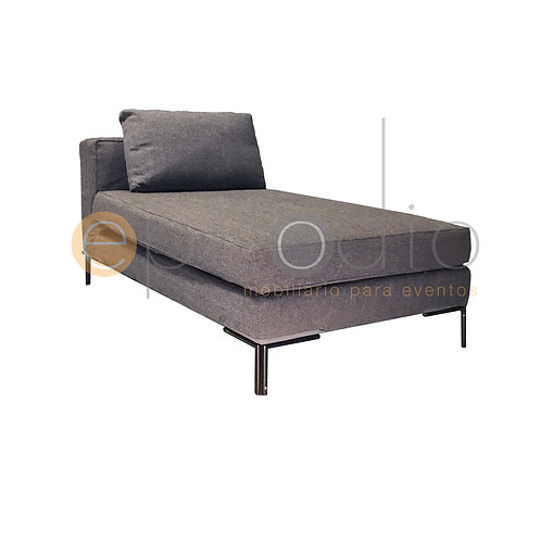 New Milano Chaise Lounge Color Gris