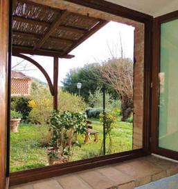 Apt. Girasoli - private garden and pergola from bedroom