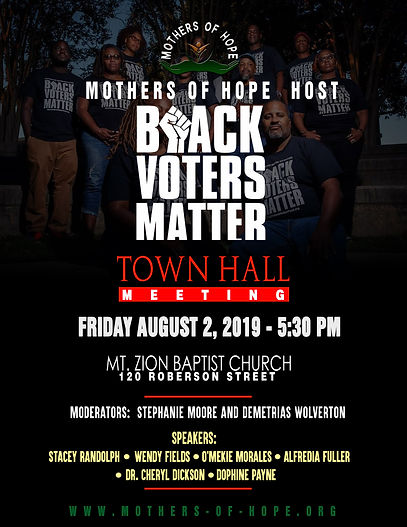 Black Voters Matter Flyer '19 Town Hall.