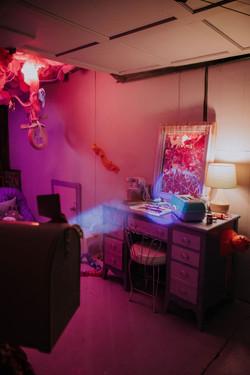 desk of creative girl