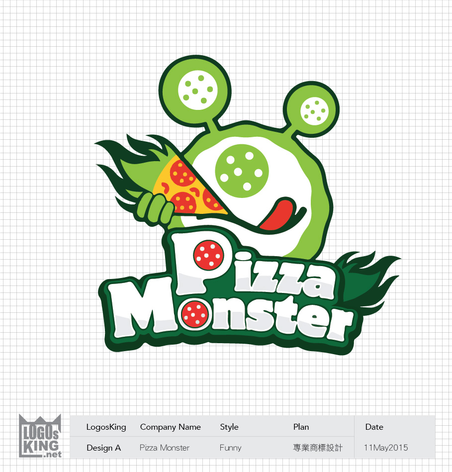 Pizza Monster | Logosking.net