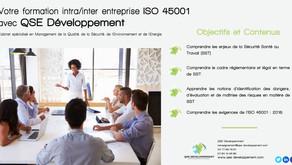 Les dates pour la formation ISO 45001