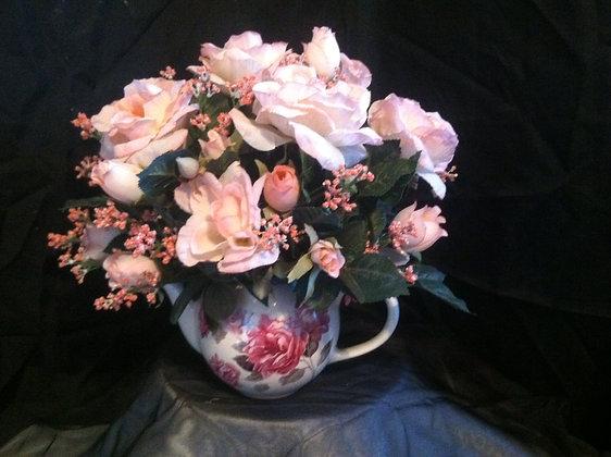 Pink Rose Pitcher