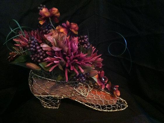 Burgundy Mesh Shoe